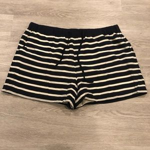 Joe Fresh Striped Silk Lined Shorts Size L